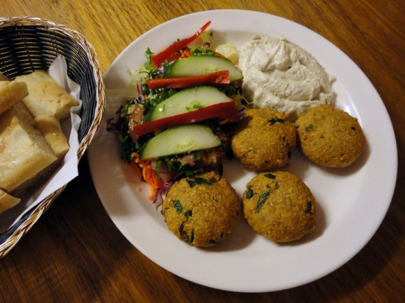 Felafel plate at Golden Grill Turkish Restaurant in Werribee.