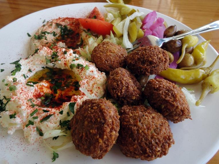 Falafel plate at Abbout Falafel House in Sydney Rd, Coburg.