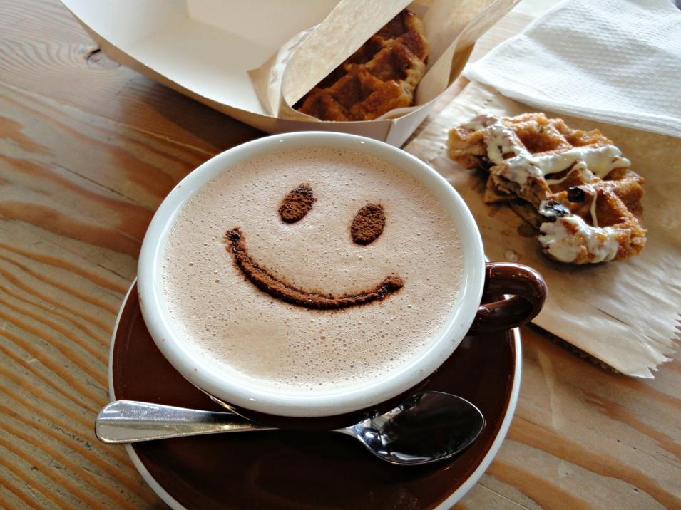 Waffee waffles coffee consider the sauce - Bilder cappuccino ...