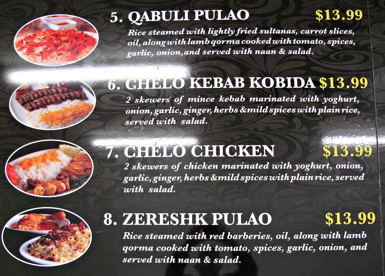 Yes it is afghan kebabs for footscray consider the sauce for Afghan cuisine menu